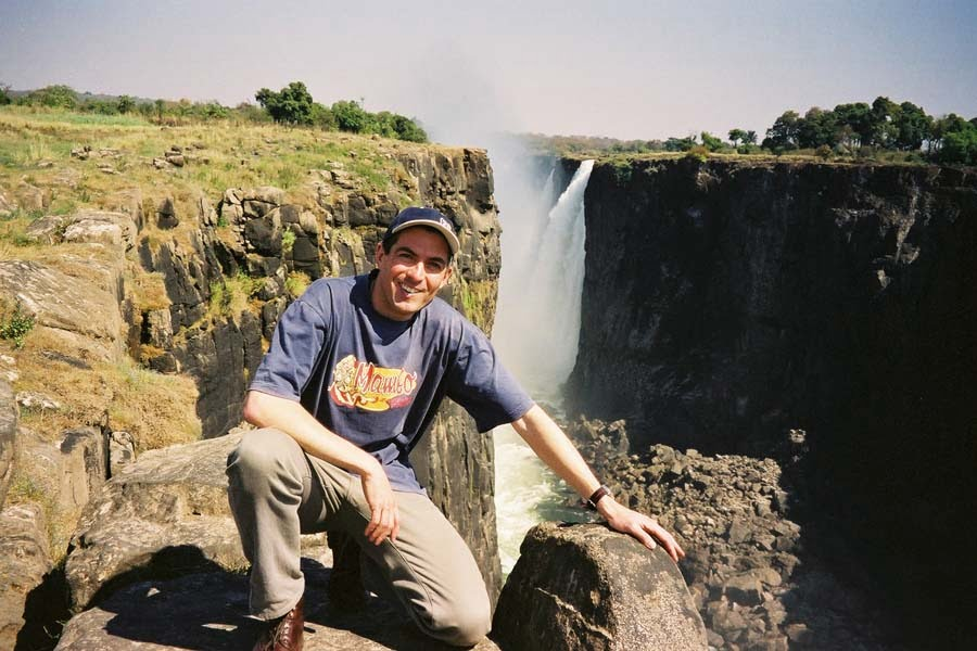 Dr James Thompson at Victoria Falls