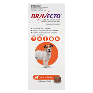 Bravecto Chewables Small Dogs Orange