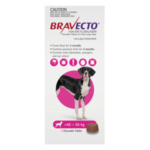 Bravecto Chewables Extra Large Dogs Pink