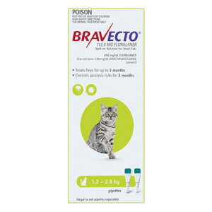 Bravecto Spot-On Cats Green