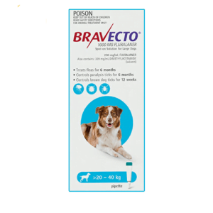 Bravecto Spot-On Dogs Blue
