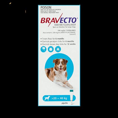 Bravecto Spot-On Dogs Blue