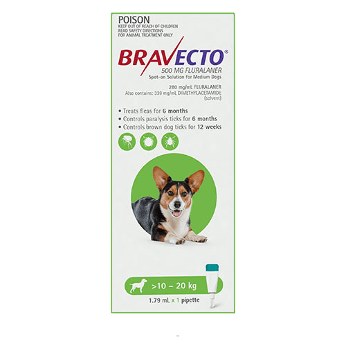 Bravecto Spot-On Dogs Green
