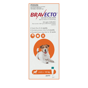 Bravecto Spot-On Dogs Orange