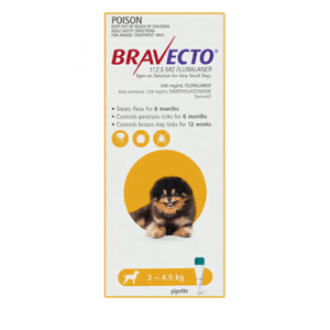 Bravecto Spot-On Dogs Yellow